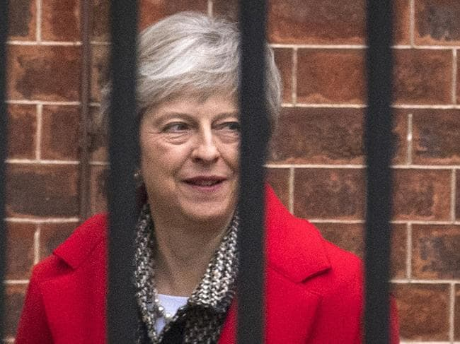 Britain's Prime Minister Theresa May has pushed back against rebel MPs and says she won't be kicked out. Picture: Dominic Lipinski/PA/AP