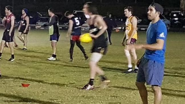 Eddie Betts trains with Lockleys.