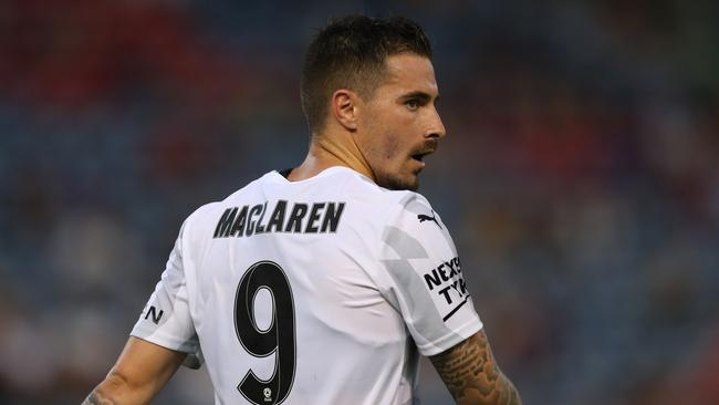 Jamie Maclaren of Melbourne City during the round 10 A-League match between the Newcastle Jets and Melbourne City. (Photo by Tony Feder/Getty Images)