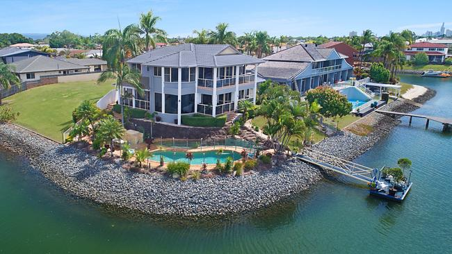 This property at 31 Pilot Court, Mermaid Waters, is for sale.