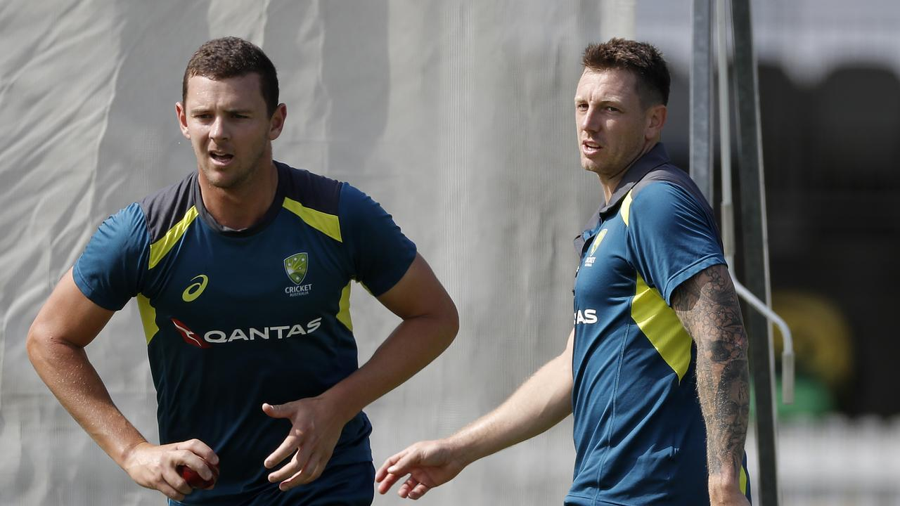 Josh Hazlewood has replaced the rested James Pattinson in Australia's Test line-up.