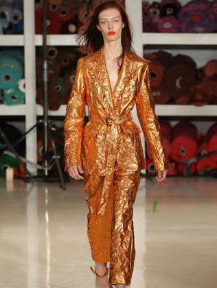 Remi on the catwalk for Sies Marjan. Picture: JP Yim