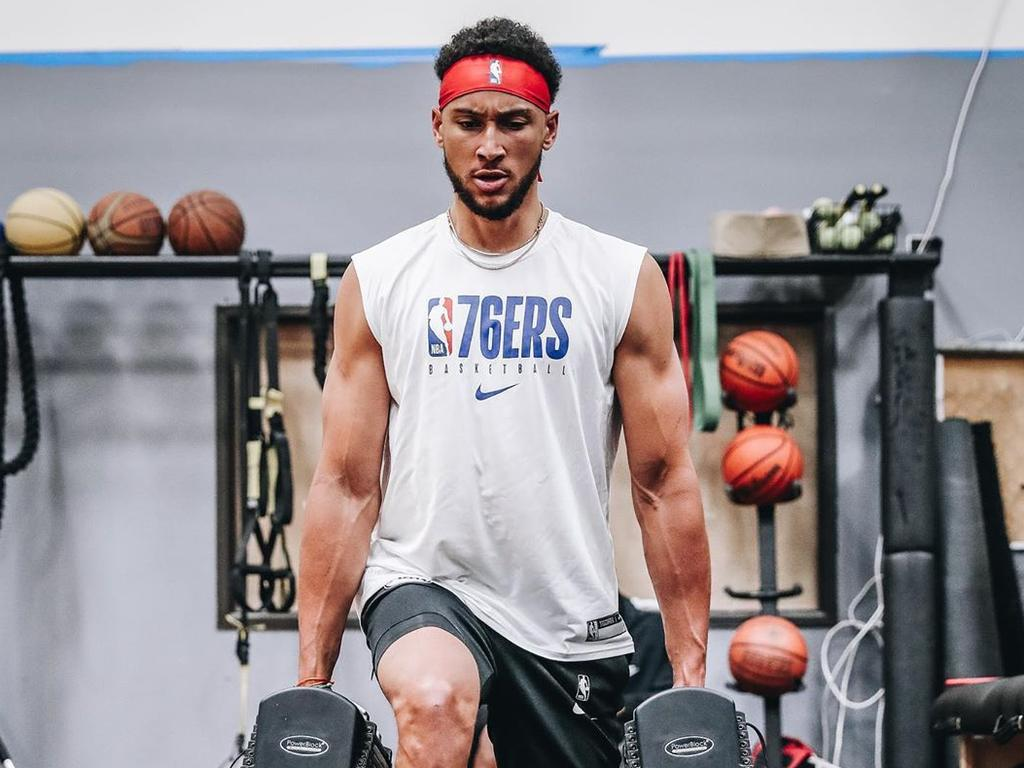 Supplied Editorial Philadelphia 76ers star Ben Simmons works out. Picture: Instagram