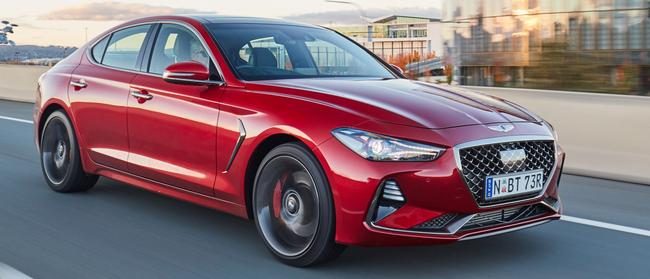 Genesis G70: Sleek styling melds the best of the rival brands' cues