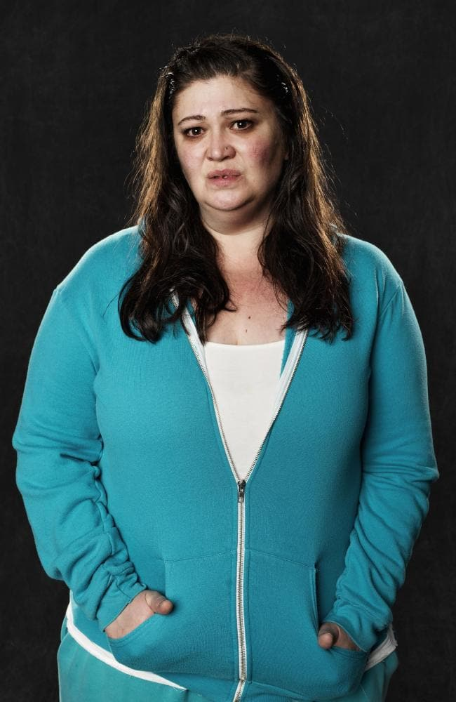 Warts and all: Milosevic as Sue 'Boomer' Jenkins in Wentworth. Supplied by Foxtel