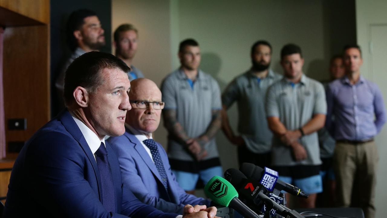 Cronulla Sharks are concerned for Shane Flanagan welfare. Picture: Brett Costello