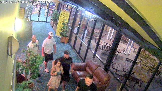 Police have released CCTV images of a group who may be able to assist with inquiries. Picture: NSW Police Media