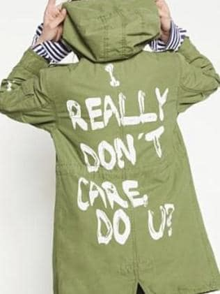 The jacket sported by Melania Trump. Picture: Zara