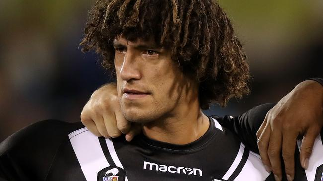 Kevin Proctor played in New Zealand's Test loss to Australia in Canberra.