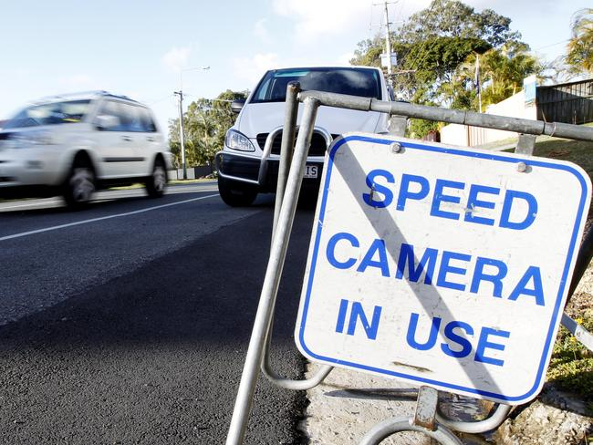 There is a belief that driving less than 10 per cent over the speed limit won't result in a fine. Picture: Jerad Williams