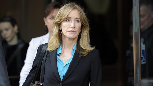 Felicity Huffman exits the courthouse during her case. Picture: AFP