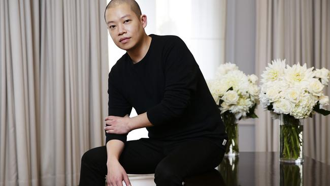 Fashion designer Jason Wu in Sydney. Picture: Justin Lloyd