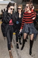 Kendall Jenner, Gigi Hadid and Bella Hadid are seen leaving the Anna Sui fashion show during, New York Fashion Week: The Shows at Gallery 1, Skylight Clarkson Sq on February 15, 2017 in New York City. Picture: Getty
