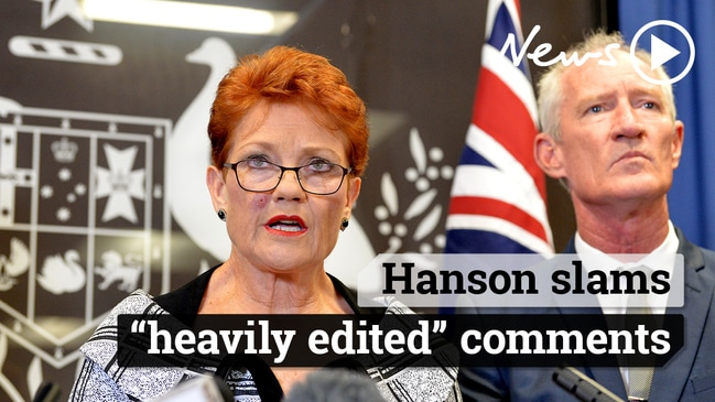 "Pauline Hanson hits back at ""heavily edited"" Al Jazeera investigation"