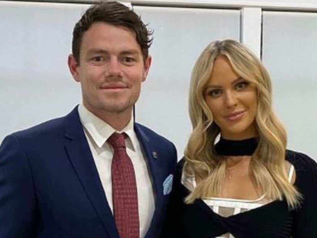 Lachie Neale with wife Jules.
