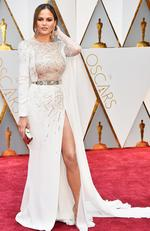 Model Chrissy Teigen attends the 89th Annual Academy Awards. Picture: Frazer Harrison/Getty Images