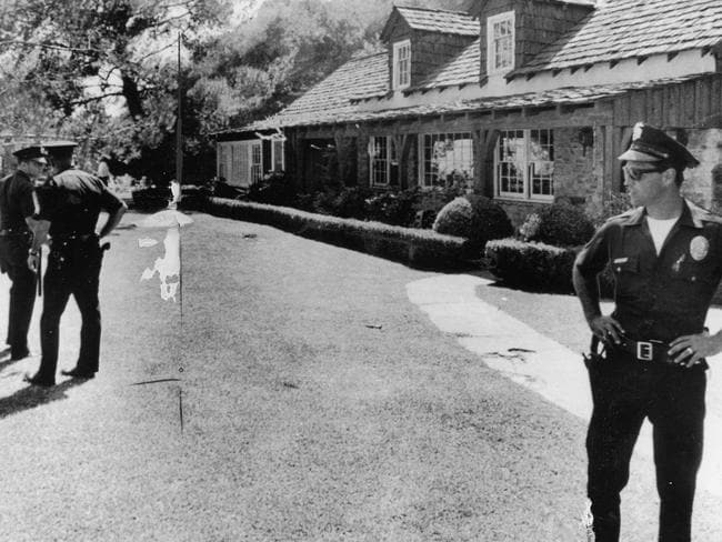 Actress Sharon Tate's home in Cielo Drive, Los Angeles. Picture: LAPD