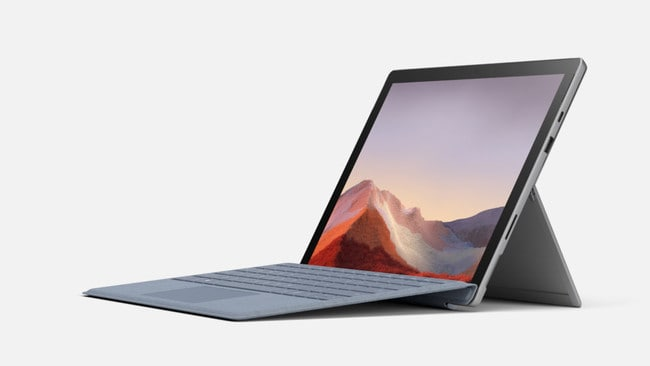 Microsoft Surface Pro 7 with type cover accessory.