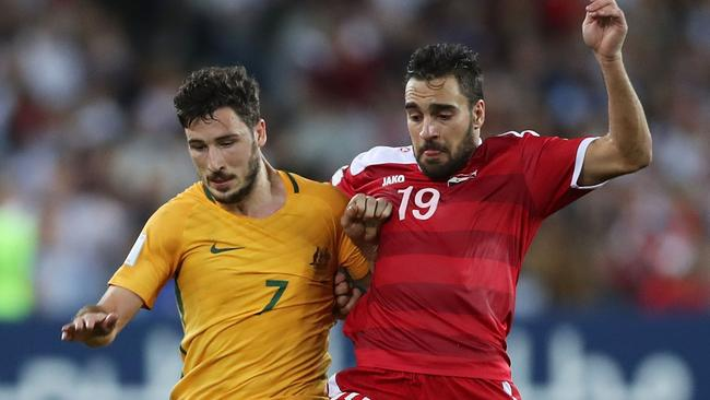 Syria made life very difficult for the Socceroos. (Photo by Mark Metcalfe/Getty Images)
