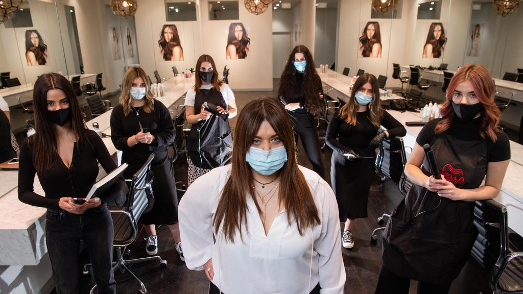 Hairdresser Marie Uva will have to close her Uva Salon under stage four requirements Picture: Jason Edwards