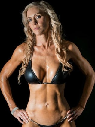 The fitness model, 54, had also changed her negative way of thinking and ideals of the 'perfect female form' to love and appreciate her 'new' self. Picture: Jane Curnow