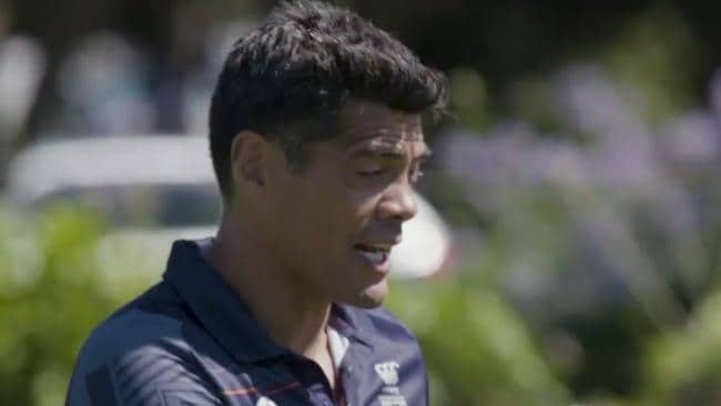 Warriors coach Stephen Kearney lays down the law at pre-season training.
