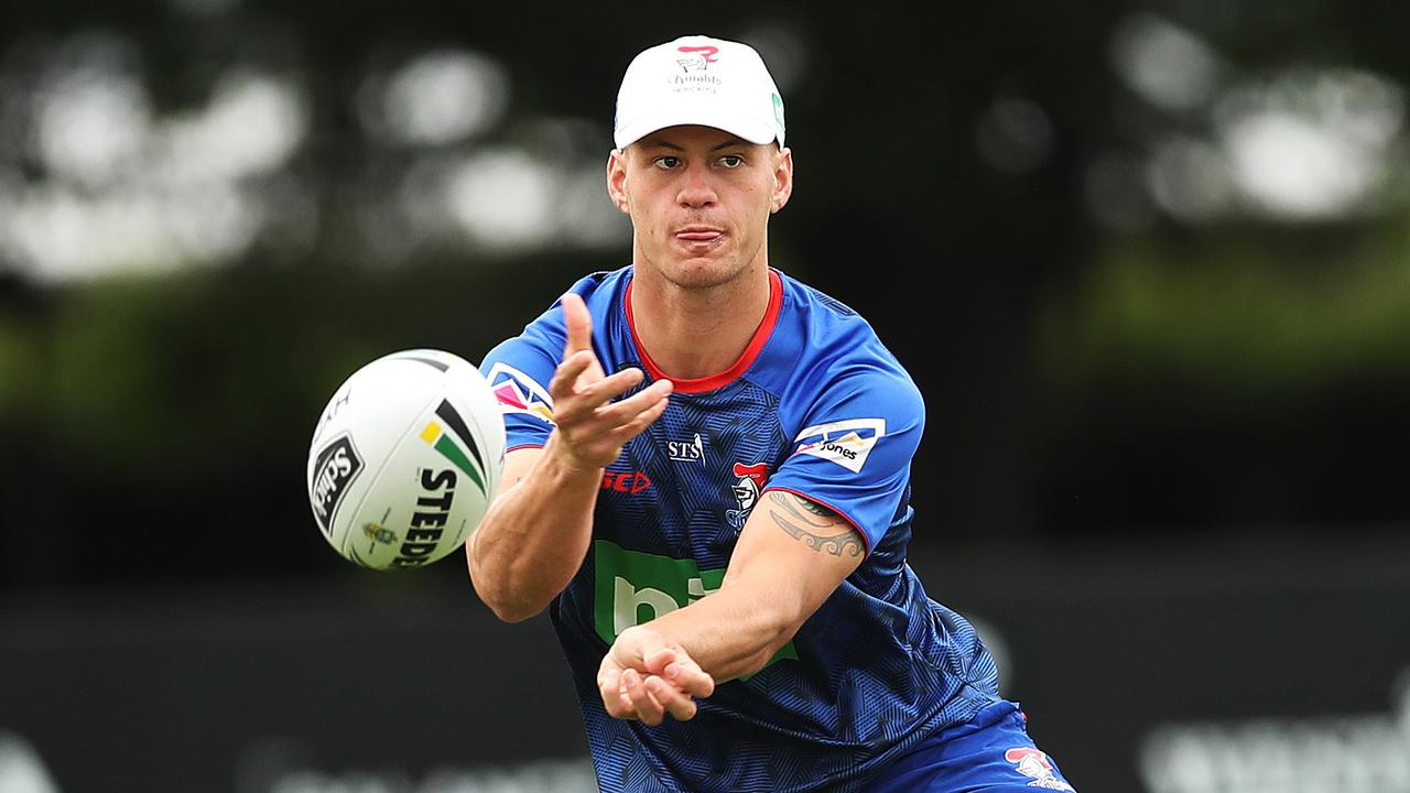 Kalyn Ponga during Newcastle Knights training at their training ground in Mayfield. Picture. Phil Hillyard