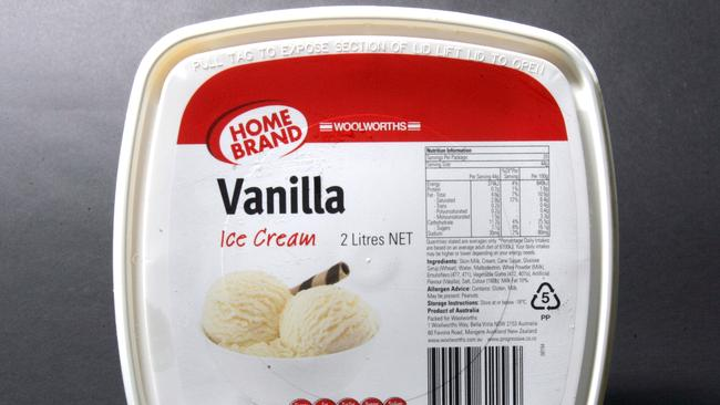 So this ice cream actually tastes less delicious just because it's not in a fashionable tub.