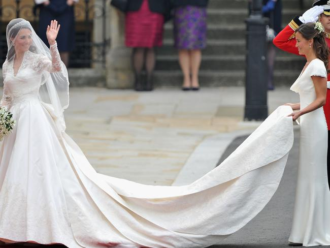Pippa Middleton was an unfortgetable part of sister Kate's bridal party when she married Prince William. Picture: Getty