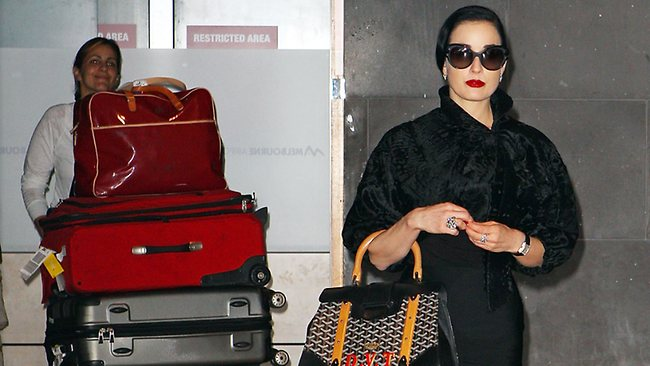 8547036f3871 Dita Von Teese arrives in Melbourne for Cup celebrations