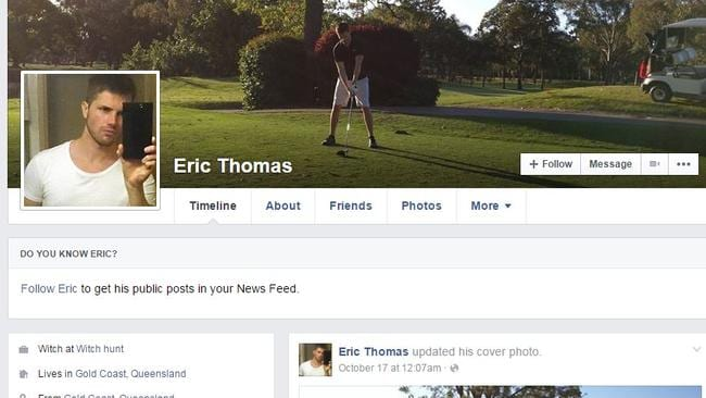 Screenshot of Eric Thomas, aka Gable Tostee's Facebook page.