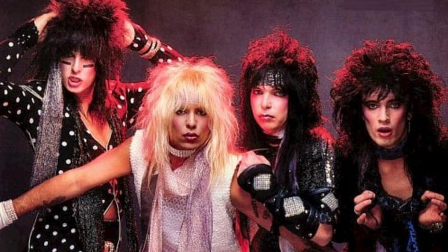 Hey ladies! Oh sorry, it's Motley Crue in the hair metal heyday of 1985.