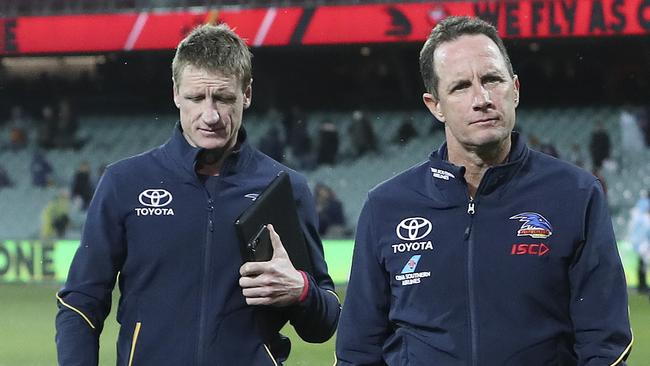 Don Pyke and Brett Burton. Picture: SARAH REED