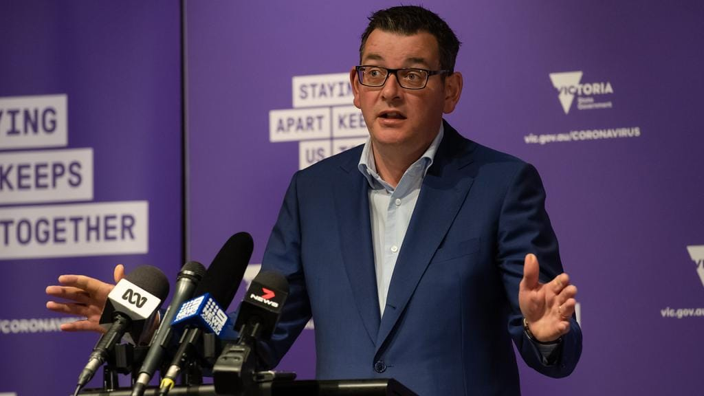 """Premier Daniel Andrews said a possible second wave would be """"catastrophic"""" to the Victorian economy. Picture: Jason Edwards"""