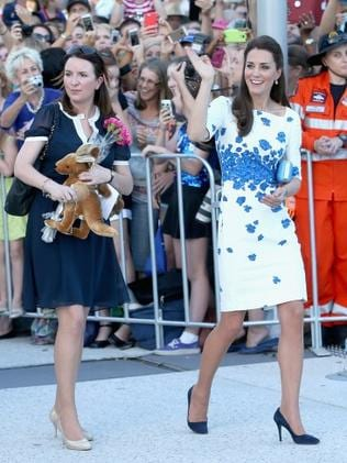 Kate's longtime personal secretary Rebecca Deacon with the Duchess in Australia. Photo: Chris Jackson/Getty Images