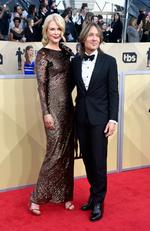 Actor Nicole Kidman (L) and musician Keith Urban attend the 24th Annual Screen ActorsGuild Awards at The Shrine Auditorium on January 21, 2018 in Los Angeles, California. Picture: Frazer Harrison/Getty Images/AFP