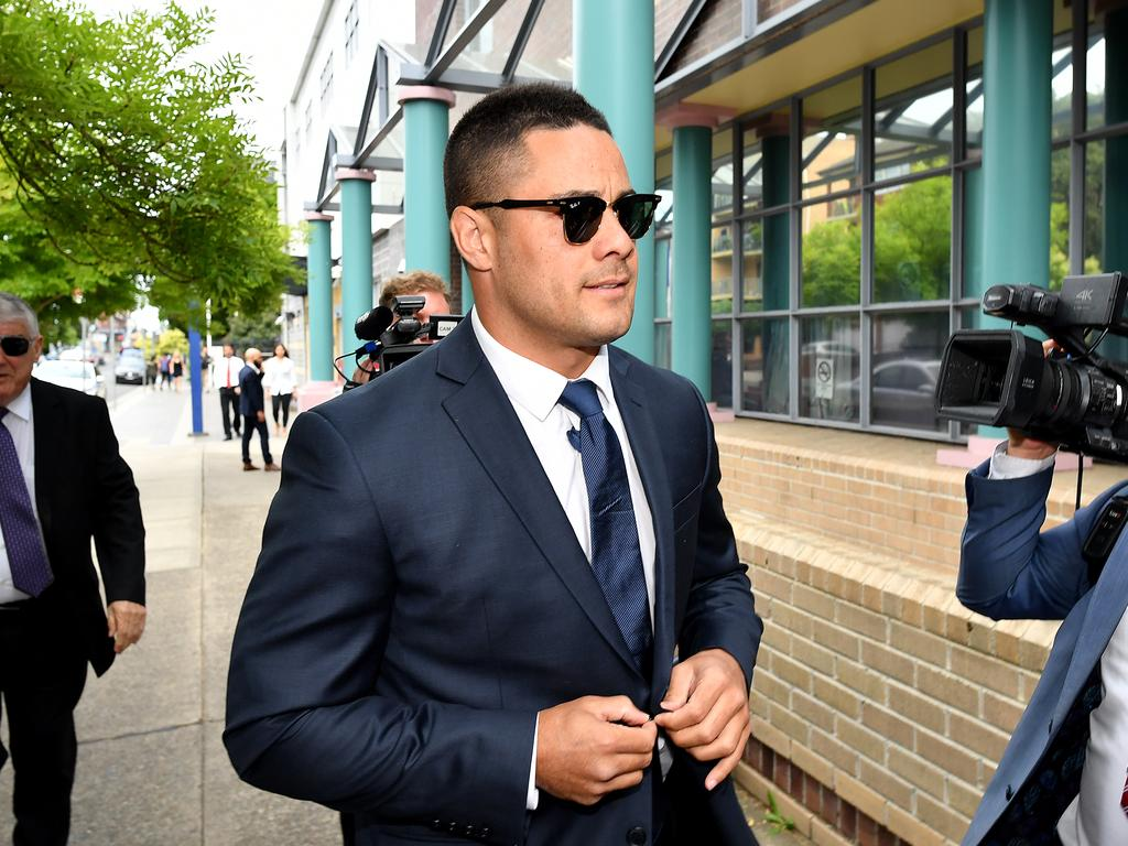 Jarryd Hayne arrives at Burwood Local Court in Sydney, Monday, December 10, 2018. NRL star Jarryd Hayne is due to front court after he was charged with sexual assault and inflicting bodily harm following an alleged sexual encounter in NSW. (AAP Image/Joel Carrett) NO ARCHIVING