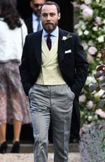 James Middleton, brother of the bride, attends the wedding of Pippa Middleton and James Matthews at St Mark's Church in Englefield, west of London, on May 20, 2017. Picture: AFP PHOTO / POOL / Justin TALLIS