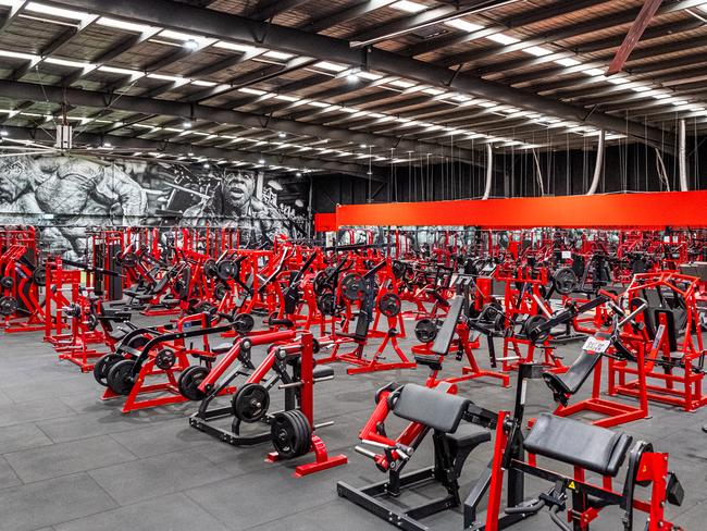 The Muscle City Gym in Mount Waverley is seen empty following the forced closure of Gyms. Picture: Getty