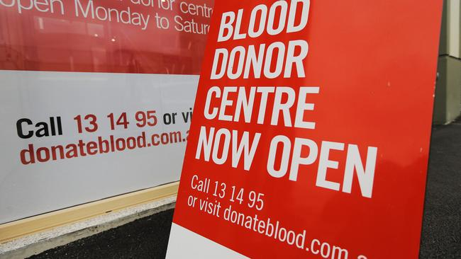 The Red Cross Blood Service insists it doesn't screen based on sexual orientation, but opponents of restrictions say that's just semantics. Picture: Mathew Farrell