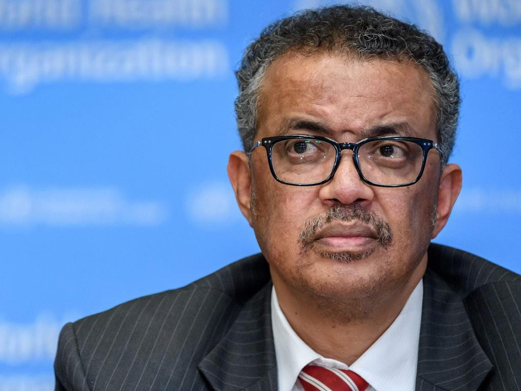 World Health Organisation (WHO) Director-General Tedros Adhanom Ghebreyesus announced that the coronavirus is a pandemic. Picture: AFP