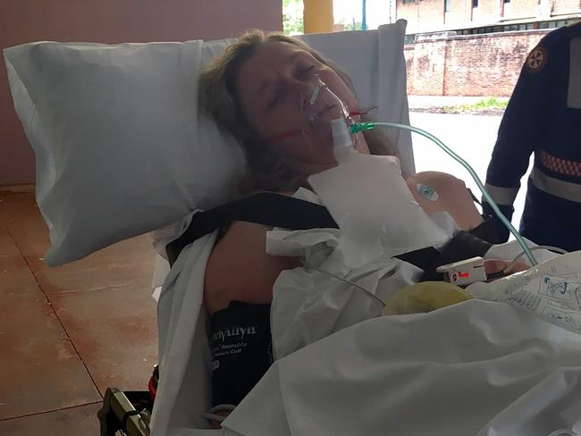 Fiona had a heart attack while she was in hospital. Picture: Caters News
