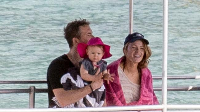 Blake Lively, Ryan Reynolds and baby James on Lord Howe ...