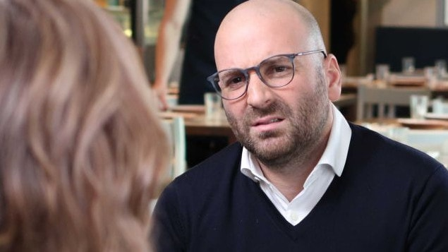 George Calombaris has spoken on camera for the first time since the wages scandal broke. Picture: ABC/7.30