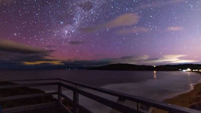 The Aurora Australis are our version of the Northern Lights. Image: Supplied