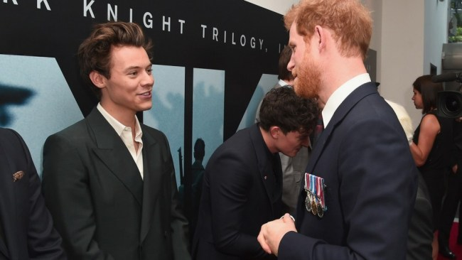 When Harry met Harry at the 'Dunkirk' premiere. Photo: Getty