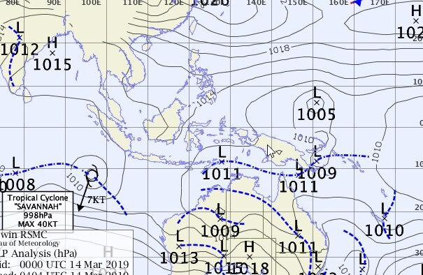 Potential of a cyclone forming over NT waters