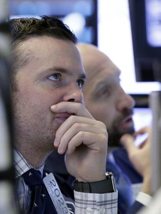 Wall Street went on a losing streak on Wednesday amid fears over the election outcome. Picture: AP Photo/Richard Drew.