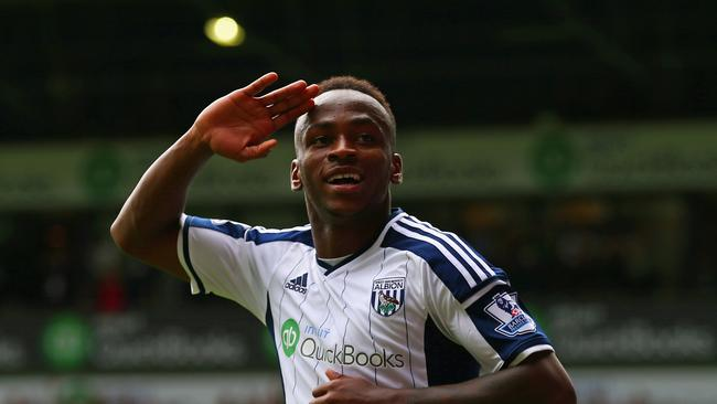 Saido Berahino during his time at West Brom