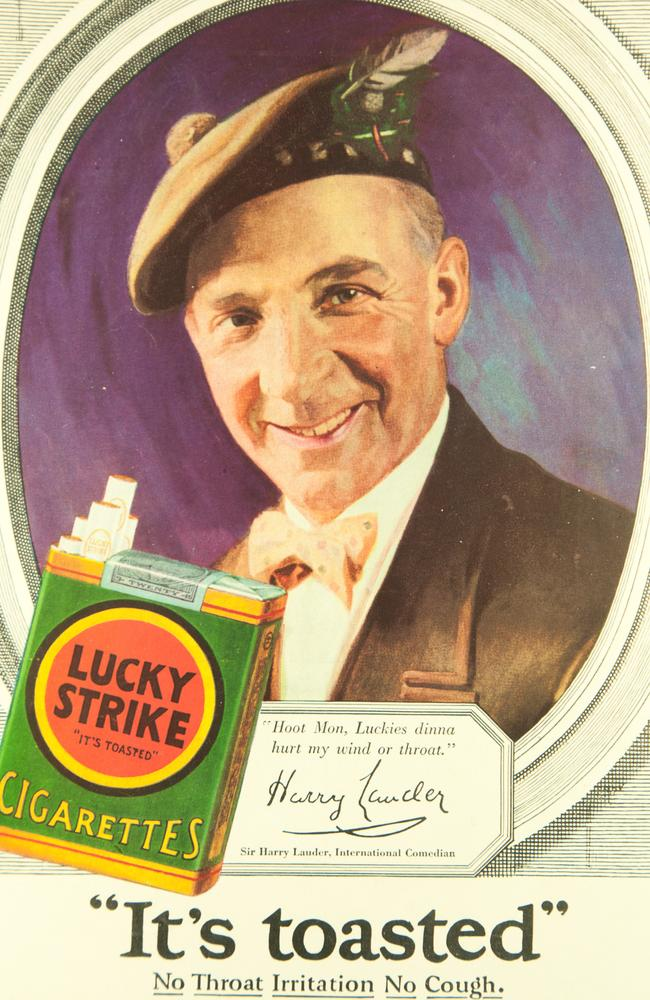 A Lucky Strike cigarette ad promises 'No throat irritation. No Cough'.